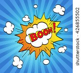 comic sound effect. halftone... | Shutterstock .eps vector #426855502