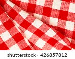 checkered red white folded with ...   Shutterstock . vector #426857812