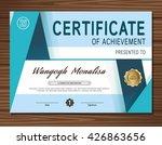 blue vector modern certificate... | Shutterstock .eps vector #426863656