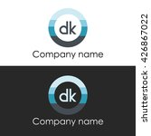 dk letter a circle shape icon... | Shutterstock .eps vector #426867022