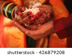 the hand of the bride held by a ... | Shutterstock . vector #426879208