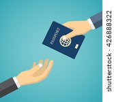 businessman hand receiving... | Shutterstock .eps vector #426888322