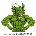 cartoon tough mean strong green ... | Shutterstock . vector #426897562