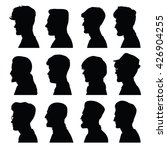 silhouettes of male head in... | Shutterstock . vector #426904255