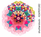 vector triangle pattern... | Shutterstock .eps vector #426905182