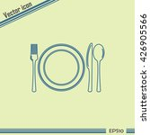 line icon  sign with spoon ... | Shutterstock .eps vector #426905566