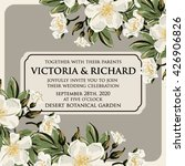 wedding invitation card with... | Shutterstock .eps vector #426906826