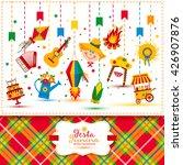 festa junina village festival... | Shutterstock .eps vector #426907876