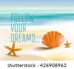 sandy beach cost ocean | Shutterstock .eps vector #426908962