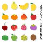 set of fruit healthy food  ... | Shutterstock .eps vector #426909802