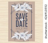 save the date wedding... | Shutterstock .eps vector #426913552
