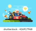 riding a karting design flat | Shutterstock .eps vector #426917968