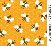 bee with honey. seamless... | Shutterstock .eps vector #426918382