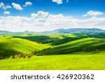 green fields and blue sky.... | Shutterstock . vector #426920362