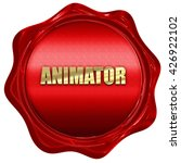 animator  3d rendering  a red...
