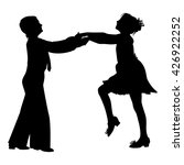 dancing couple silhouette on... | Shutterstock .eps vector #426922252