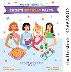 vector invitation flyer card... | Shutterstock .eps vector #426928012
