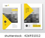annual report with photo and... | Shutterstock .eps vector #426931012