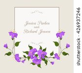 flower frame with purple bell... | Shutterstock .eps vector #426937246