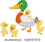 duck family cartoon | Shutterstock .eps vector #426937372