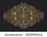 Ornament Black Gold Card With...
