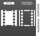 film line icon  outline and...