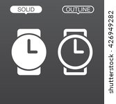 wristwatch line icon  outline...