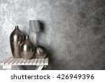 home decor on table on grey... | Shutterstock . vector #426949396