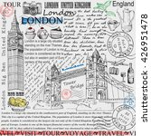 card with hand drawn london.... | Shutterstock . vector #426951478