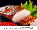 slice of baked pork fillet ...