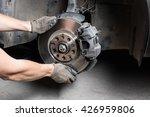 car mechanic hands replace... | Shutterstock . vector #426959806