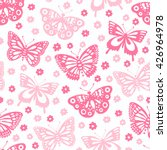 butterfly seamless background.... | Shutterstock .eps vector #426964978