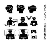 virtual reality glasses icons | Shutterstock .eps vector #426974926