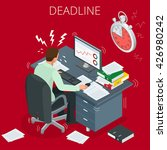 project deadline. concept of... | Shutterstock .eps vector #426980242