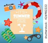 summer time background with... | Shutterstock .eps vector #426982222