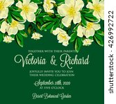 wedding invitation card with... | Shutterstock .eps vector #426992722