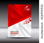 red and white cover design... | Shutterstock .eps vector #426993532