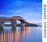 auckland harbour bridge with... | Shutterstock . vector #426993838
