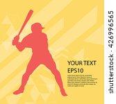 baseball player silhouette... | Shutterstock .eps vector #426996565