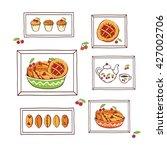 set of illustrations for the...   Shutterstock .eps vector #427002706