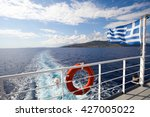 Ferry Boat In Greece View On...