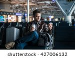 handsome smiling man in casual... | Shutterstock . vector #427006132