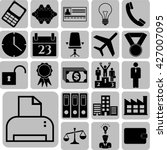 business icon set. 22 icons... | Shutterstock .eps vector #427007095