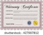 sample warranty certificate.... | Shutterstock .eps vector #427007812