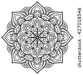 vector black and white mandala. ... | Shutterstock .eps vector #427018546