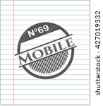 mobile pencil draw | Shutterstock .eps vector #427019332