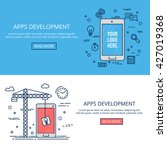 app development mobile banner... | Shutterstock .eps vector #427019368