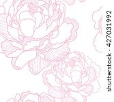 the pattern with peony flowers .... | Shutterstock .eps vector #427031992