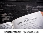 the king james bible  public... | Shutterstock . vector #427036618