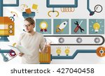 automation processing industry... | Shutterstock . vector #427040458